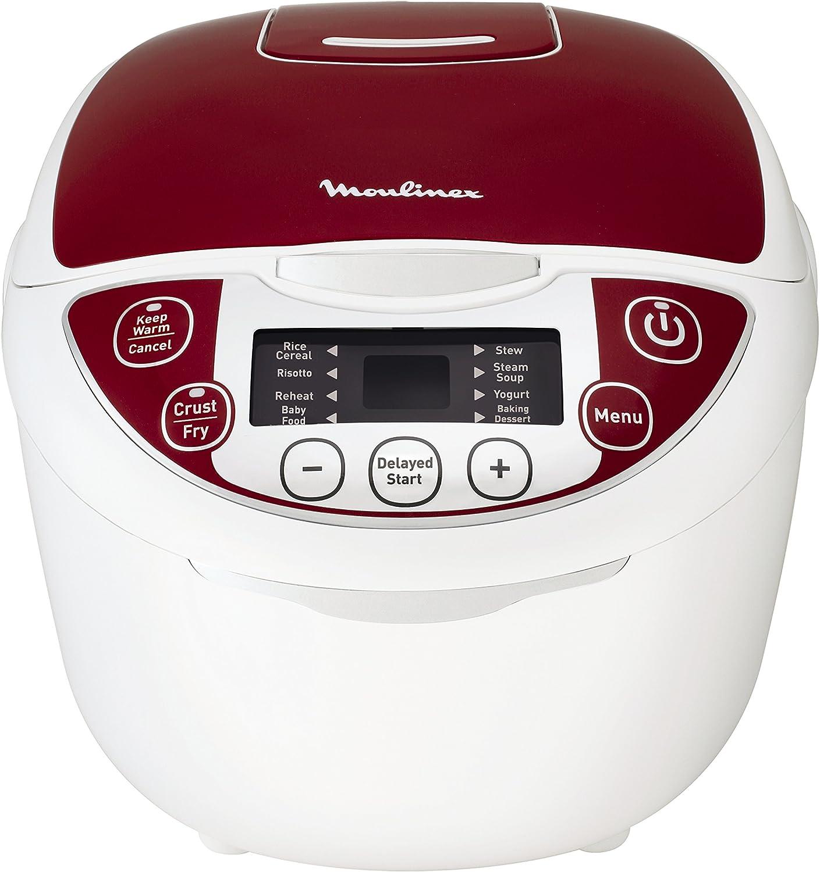 Moulinex MK705111 olla multi-cocción 5 L 750 W Rojo - Ollas multi-cocción (5 L, 750 W, 24 h, Rojo, De plástico, LCD): Amazon.es: Hogar