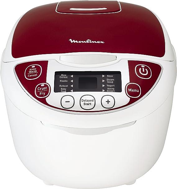 Moulinex MK705111 olla multi-cocción 5 L 750 W Rojo - Ollas multi ...
