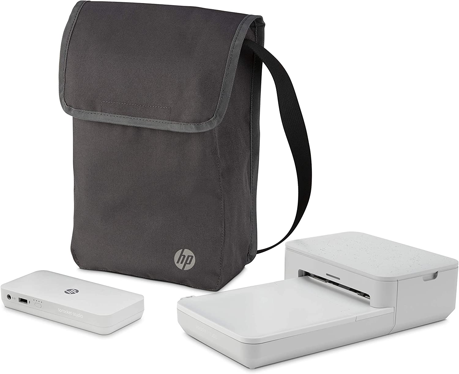 HP Sprocket Studio Go Bundle – Photo Printer with Power Bank Portable Charger & Bag: Personalize & Print 4x6 Pictures Anywhere You Go (3XT68A), 3XT68A#1H6