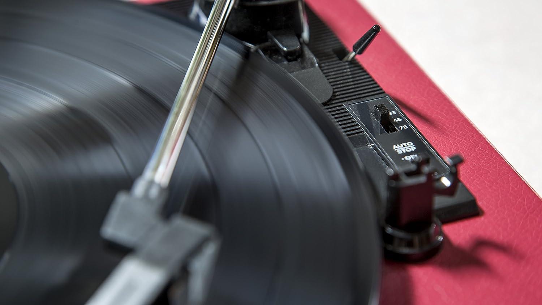 Beige Ion Audio Compact LP Giradischi a 3 Velocit/à e Convertitore Vinili ION Audio CZ-800-10 Testina di Ricambio in Ceramica per Giradischi con Puntina Software per Mac e PC e Cavo USB Inclusi