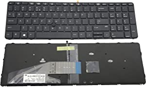 Keyboard go go go Replacement Keyboard for HP ProBook 450 G3 / 455 G3 / 470 G3 Laptop with Pointer and Backlight