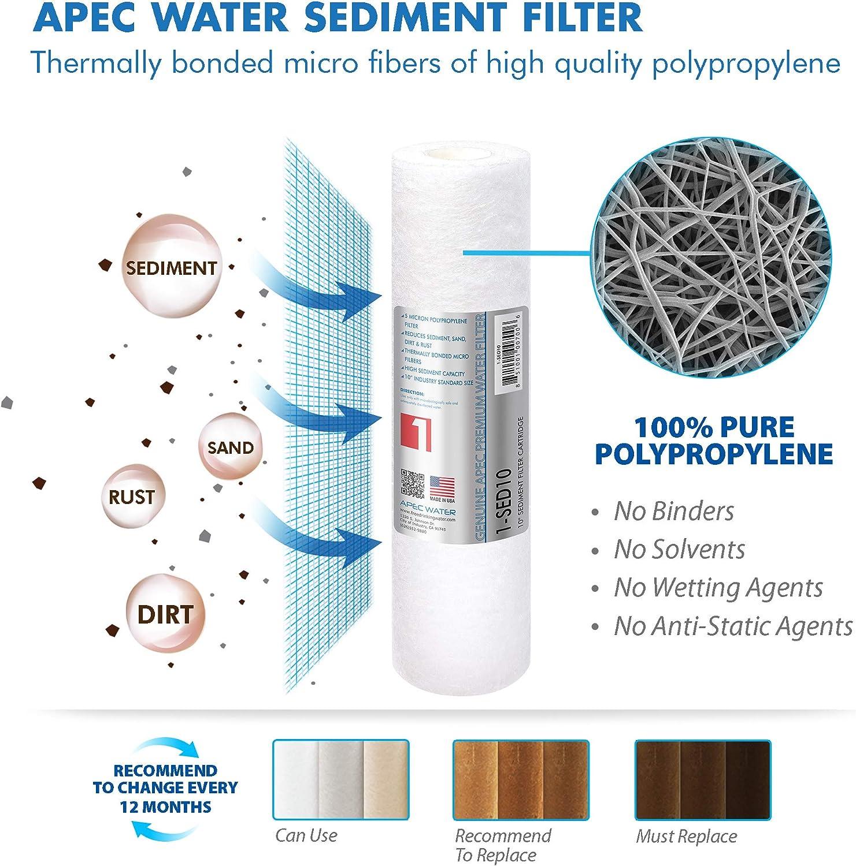 Lot de 5 microns string-wound filtre • charbon activé • remplacement d/'osmose inverse •
