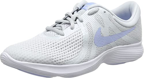 Nike Revolution 4 (GS), Zapatillas de Running para Niñas, Negro (Pure Platinum/Royal Tint/White 005), 38.5 EU: Amazon.es: Zapatos y complementos