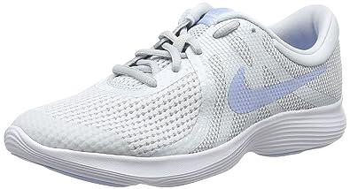 Nike Mädchen Kinder Laufschuh Revolution 4, Schwarz (Pure Platinum/Royal Tint/White 005), 36.5 EU
