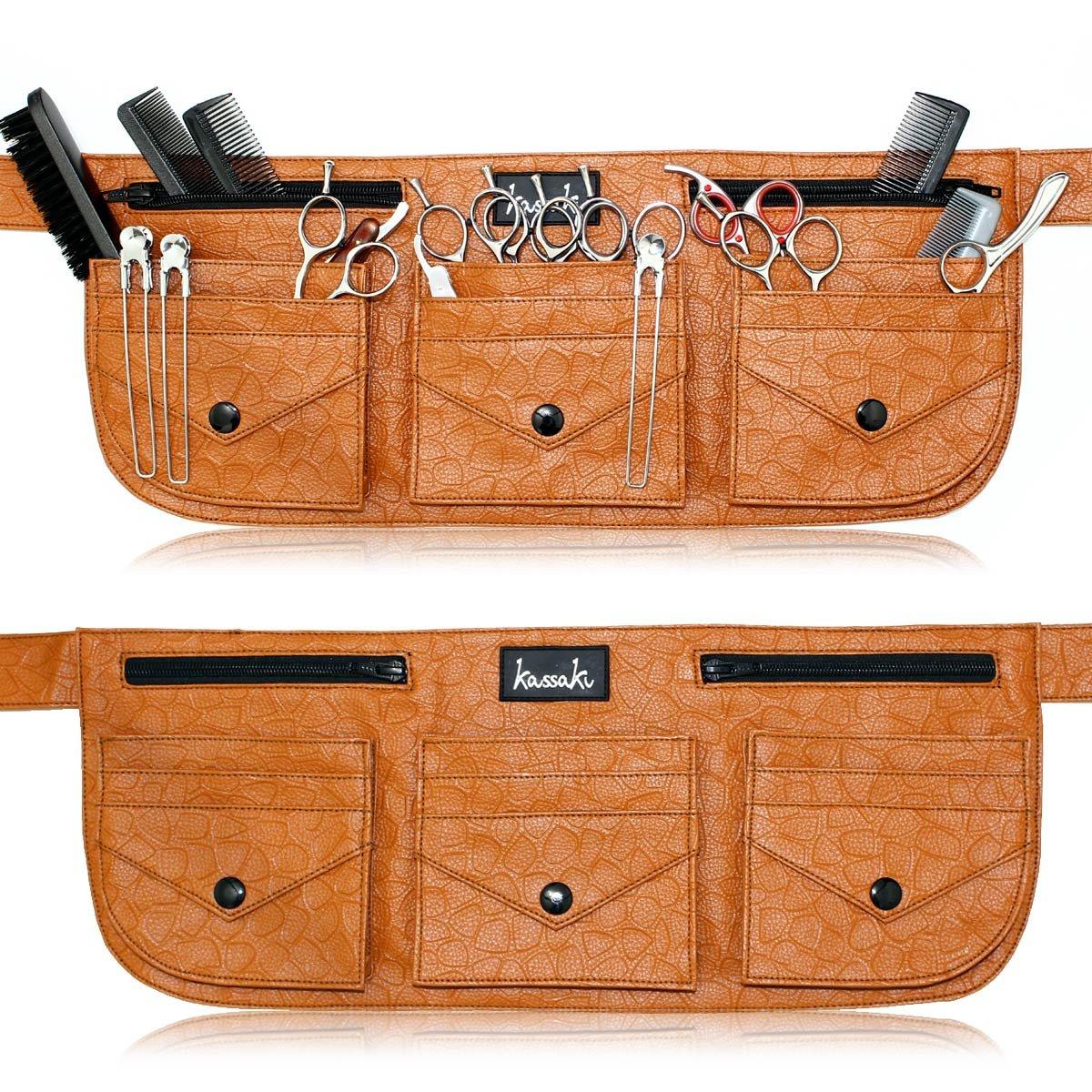 Hairdressing Equipment Scissor Toolbelt Pouch Tool Bag (Black) Kassaki