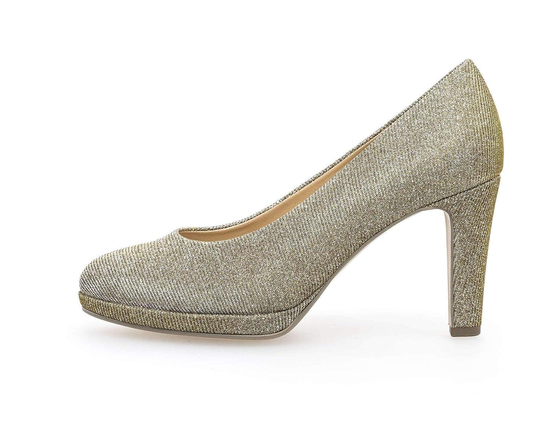 online Shop,Gabor Metall beige Pumps, Fashion Damen