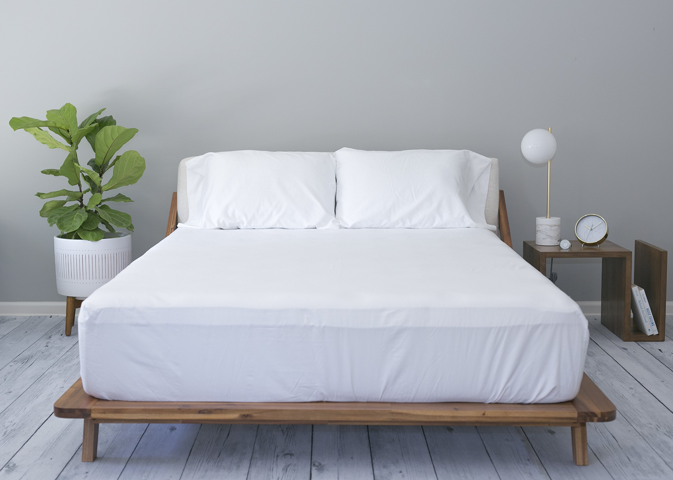100% Cotton Sateen - Luxury - 500 Thread Count - Deep Pocket - Sheet Set (QUEEN, WHITE)