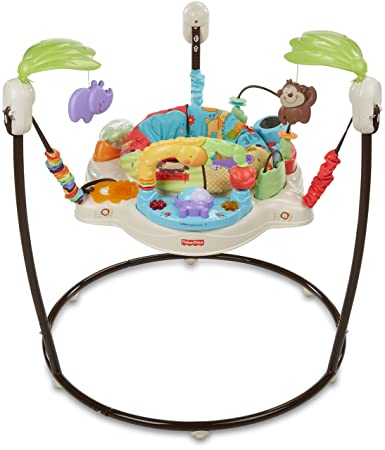 e7291d872 Amazon.com   Fisher-Price Luv U Zoo Jumperoo   Stationary Stand Up ...