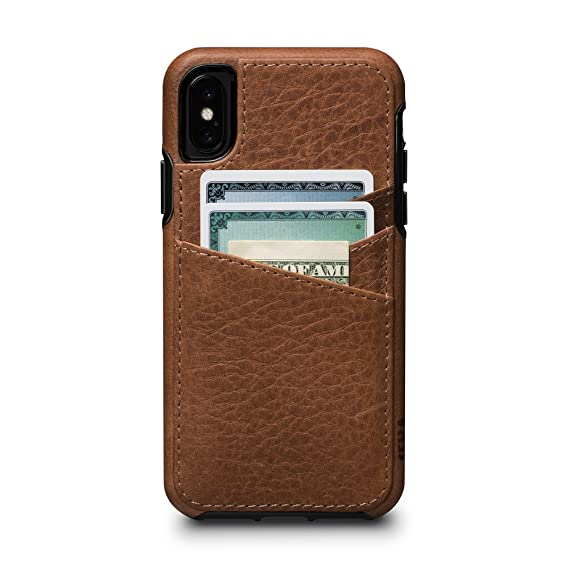 sale retailer 6cfea 29db7 Sena Bence Lugano Wallet - Genuine Leather Drop Safe Protection Card Holder  Case For Iphone X Xs - Saddle