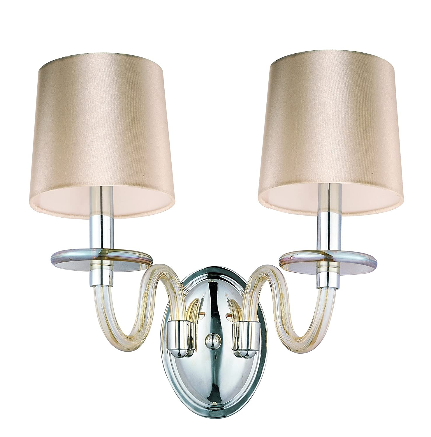 Amazon.com: maxim Lighting 27542 cgpn venezia-wall lámpara ...