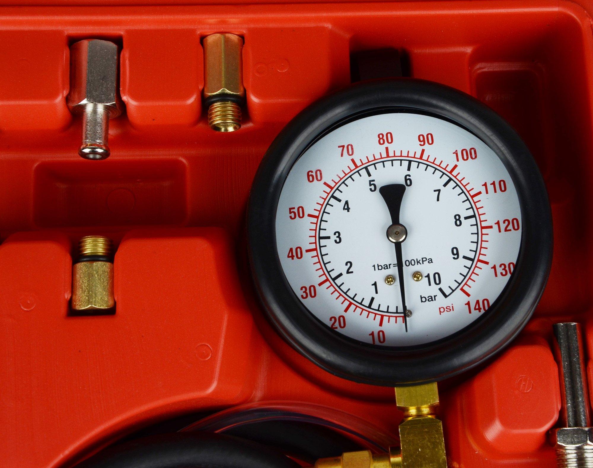 DA YUAN 0-140 PSI Fuel Injection Pressure Gauge Tester Tool Kit by DA YUAN (Image #4)