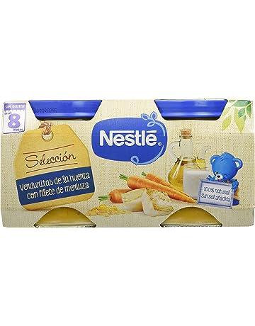 Nestlé Selección Tarrito de puré de verduras y carne, variedad Verduritas de la Huerta con