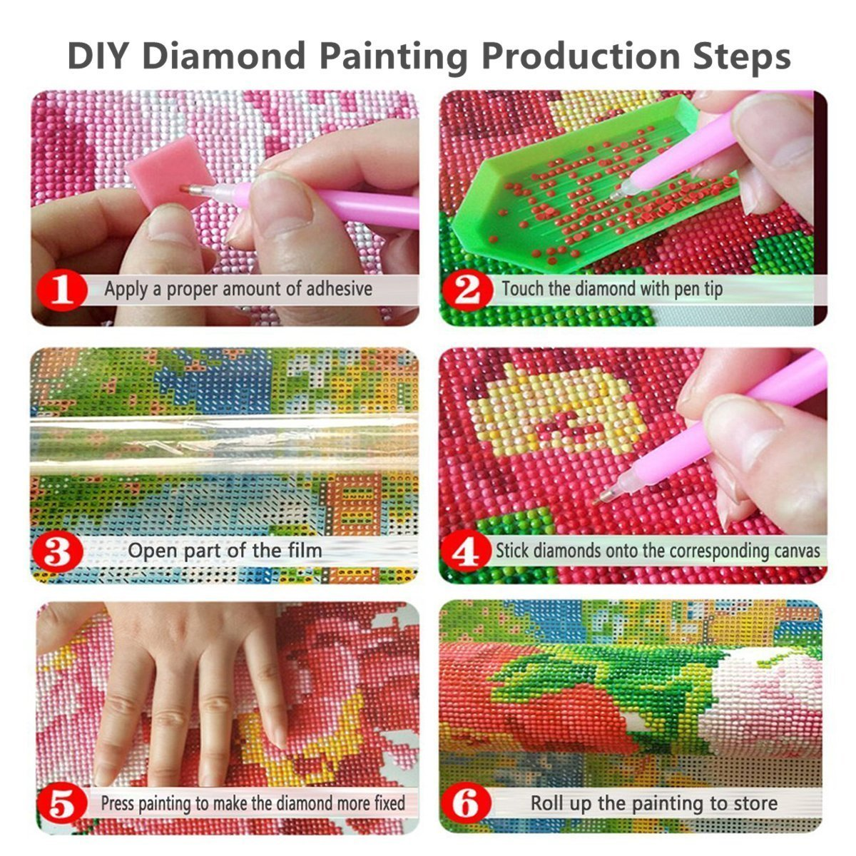 Crafts /& Sewing Cross Stitch Animals Wolves 8x10 Inch 5D DIY Diamond Painting Rhinestone Pictures of Crystals Embroidery Kits Arts