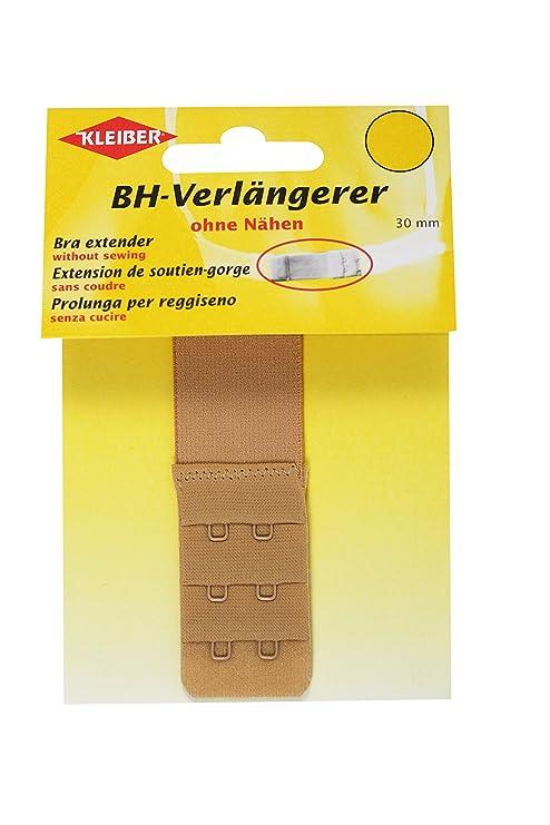 Kleiber - Alargador de sujetador con cierre de dos corchetes, 30 mm, color Color
