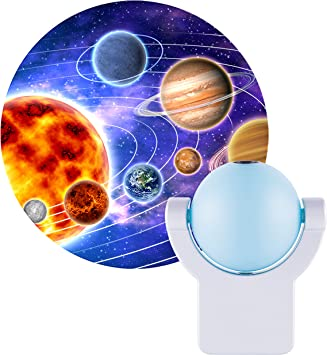 Jasco Blue Solar System Projection LED Night Light for Image on Wall or Ceiling