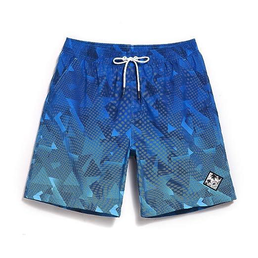 "d72beda691 Milankerr Men's Swim Trunks Waterproof Quick Dry Beach Shorts Pockets  (Blue, Small(30"""