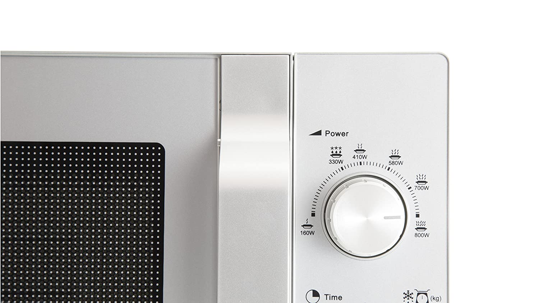 Auftaufunktion 800W Sharp R204S Mikrowelle 20L silber