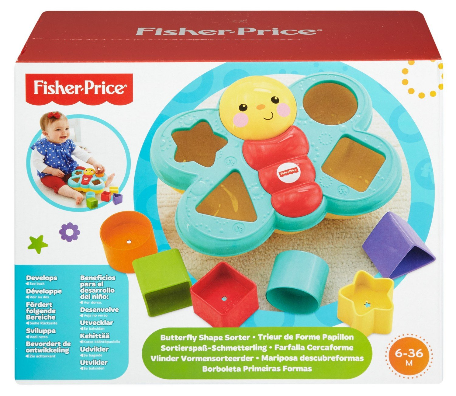 Mattel Fisher Price CDC22 Sortierspaß Schmetterling Amazon