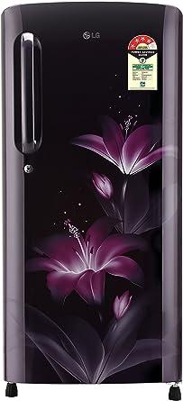 LG 190 L 4 Star Direct Cool Single Door Refrigerator(GL-B201APGX.APGZEBN, Purple Glow,Smart Inverter Compressor)