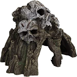 AB Tools Aquatic Aquarium Decor Skull Mountain Fish Tank Ornament Medium 21x13x15cm