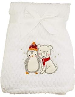Hoolaroo Anti Pil Fleece Baby Pram Buggy Cot Blanket Blue Spot