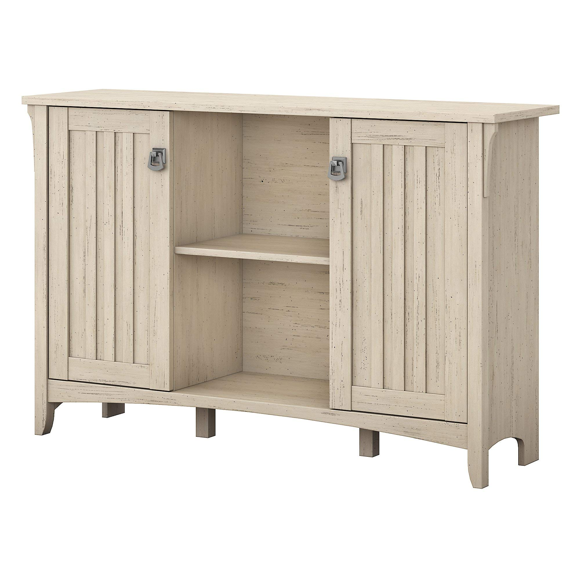 Bush Furniture Salinas Accent Storage Cabinet with Doors in Antique White by Bush Furniture
