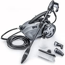 THE FORCE 1800 - POWERHOUSE INTERNATIONAL - PULL BEHIND - 1.6 GPM 1800 PSI (2600 PSI - IPB) Electric Pressure Washer with 20 Foot Quick Connect Hose 3 Different Nozzles Nylon Brush Soap dispenser and TSS Gun