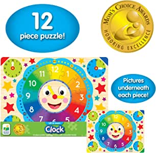 The Learning Journey Lift and Learn Clock Jigsaw Puzzle - 3 Years & Above