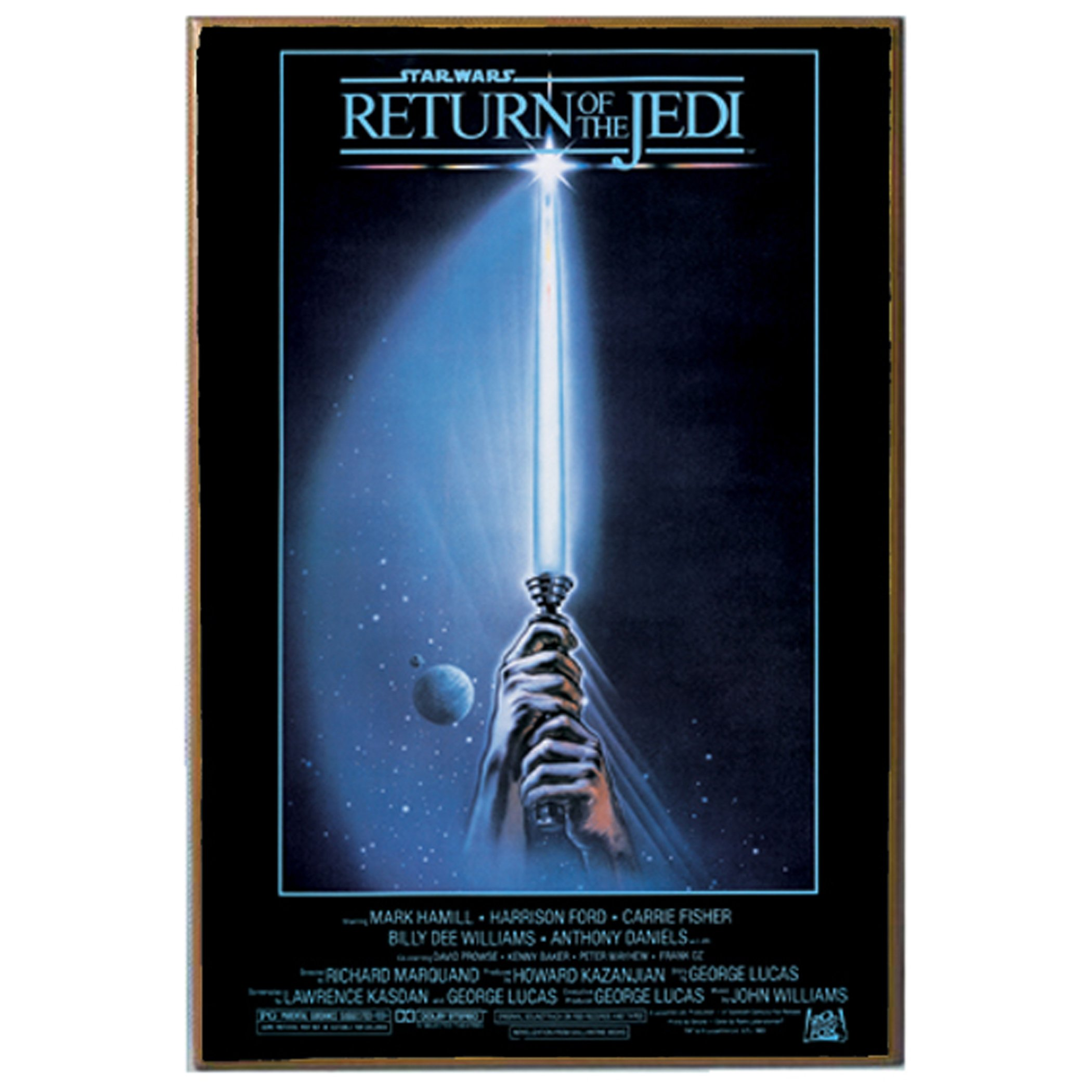 Star Wars Silver Buffalo SW6336 Return of The Jedi Movie Poster Wood Art Wall Plaque, 13 x 19 inches