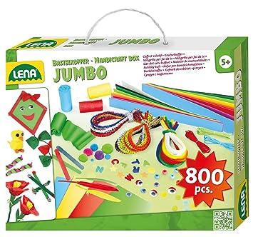 Lena 42629 Jumbo Bastelkoffer Mit Vielfältigem Material Zum Basteln