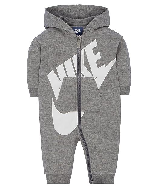 4217c22635835 Amazon.com: NIKE Baby Boys Long Sleeve Jumpsuit - Dark Grey Heather ...