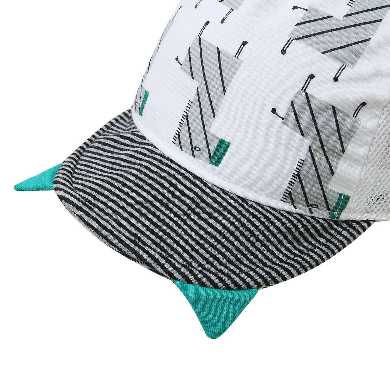 Vivobiniya Baby baseball cap Newborn summer hats baby Girl sun hats 12-24Months, Blue stripes