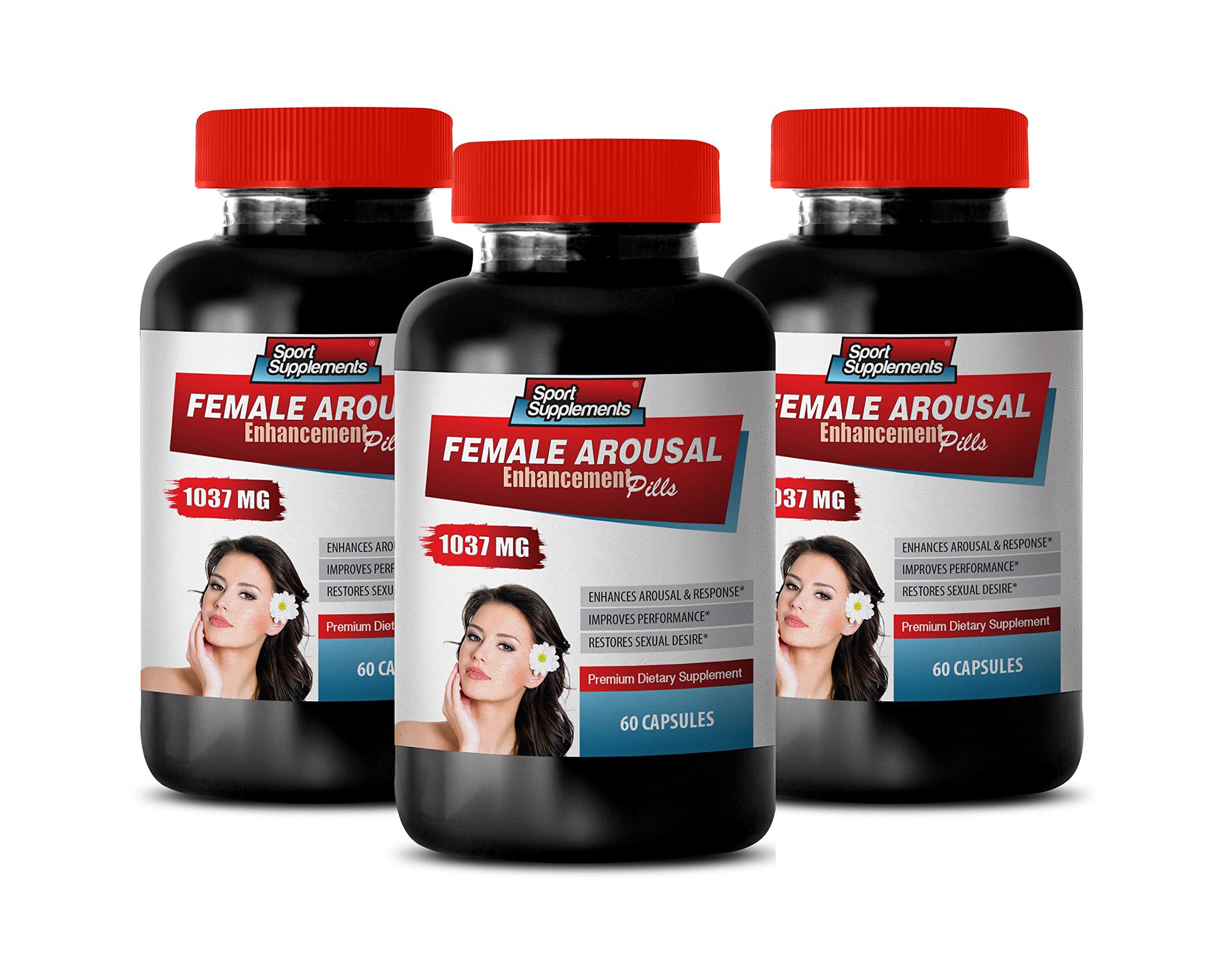 Female Vitamins for Health - Female Arousal Enhancement Pills 1037 MG - Premium Dietary Supplement - Muira puama Women - 3 Bottles 180 Capsules