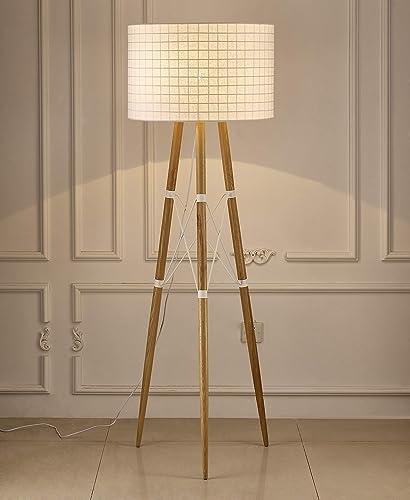 Whiteline Modern Lighting Amber Floor Lamp White