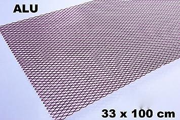 Alu Renngitter Racinggitter Tuning Gitter 33 x 100 cm Rot//Pink Aluminium neu