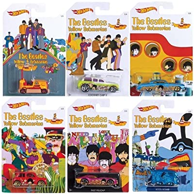 Hot Wheels - Yellow Submarine - Limited Edition Set of 6 Diecast: Toys & Games
