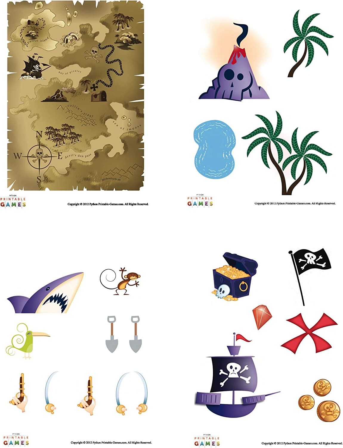- Amazon.com: Printable Pirate Treasure Map Pirate Craft For Kids