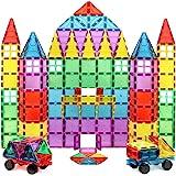 Magnet Build Deluxe 100 Piece 3D Magnetic Tile Building Set, 100 Pieces
