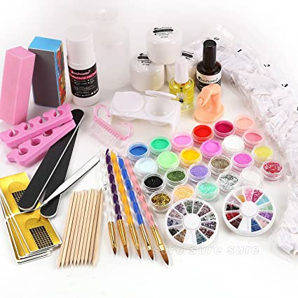 SurePromise One Stop Solution for Sourcing 22 en 1 Kit Profesional Completa de para Uñas Acrílicas Decorar Arte Uña Manicura: Amazon.es: Hogar