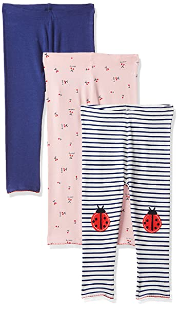 bd2f45d41ac1e Mothercare Girl's Pink, Striped and Navy Leggings - 3 Pack Multicolour  (Multi 1)