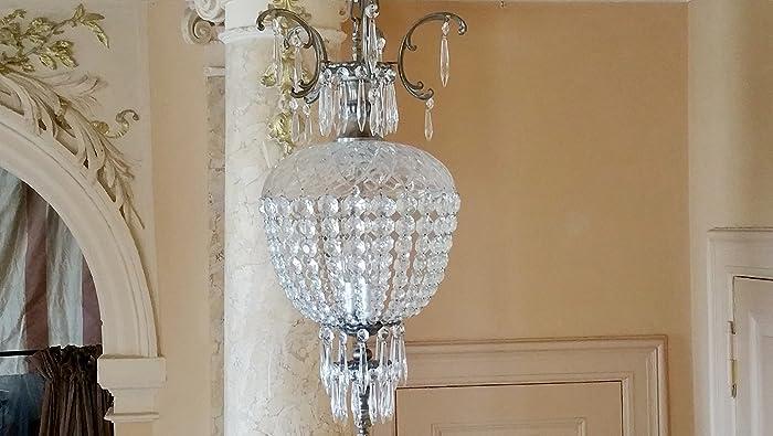 Kronleuchter Kristall Silber ~ Kronleuchter gefertigt mit spectra crystal