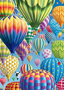 5D DIY Diamond Painting Kits for Adults and Beginner Round Full Drill Embroidery Hot air Balloon Paintings Rhinestone Pasted Diamond Pictures Arts Craft Canvas for Home Wall Decor Gift 13.8×17.7In