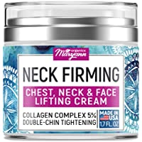 Neck Firming Cream - Anti Wrinkle Cream - Made in USA - Saggy Neck TIghtener & Double...