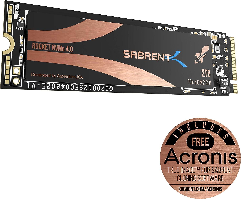 Sabrent 2TB Rocket NVMe 4.0 Gen4 PCIe M.2 Internal SSD Extreme Performance Solid State Drive (SB-ROCKET-NVMe4-2TB)