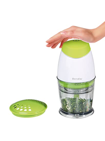 Domoclip Vert et blanc Exprimidor triturador
