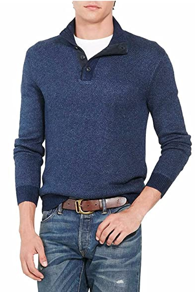 Polo Ralph Lauren Men\u0027s Tussah Silk Half-Zip Sweater (Large)