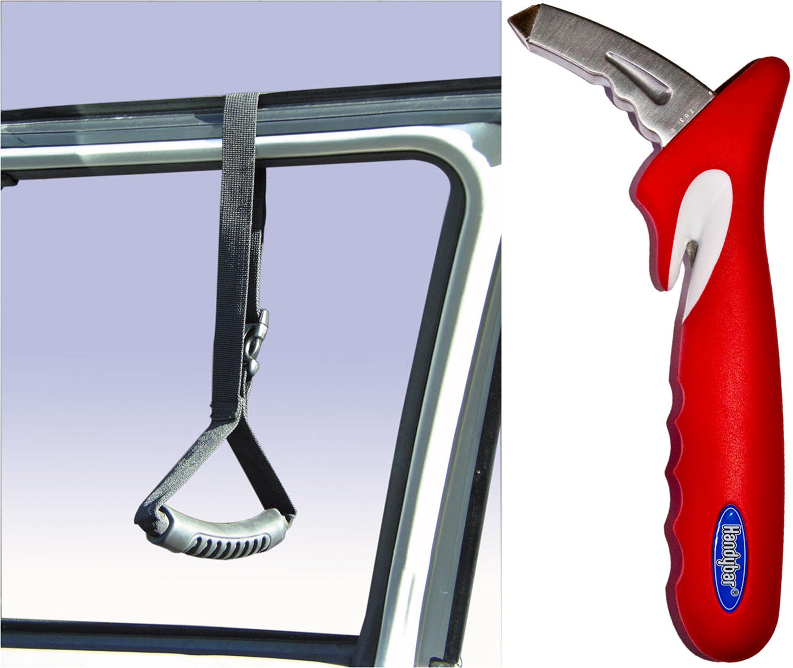 Stander Handybar & CarCaddie Combo Pack - The Original Automotive Standing Aid and Car Safety Support Handle + Emergency Escape Tool