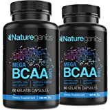 MEGA BCAA 2PK Branched Chain Amino Acids – Multiuse Natural Preworkout Bcaas for Mental Clarity and Faster Muscle Recovery, 1