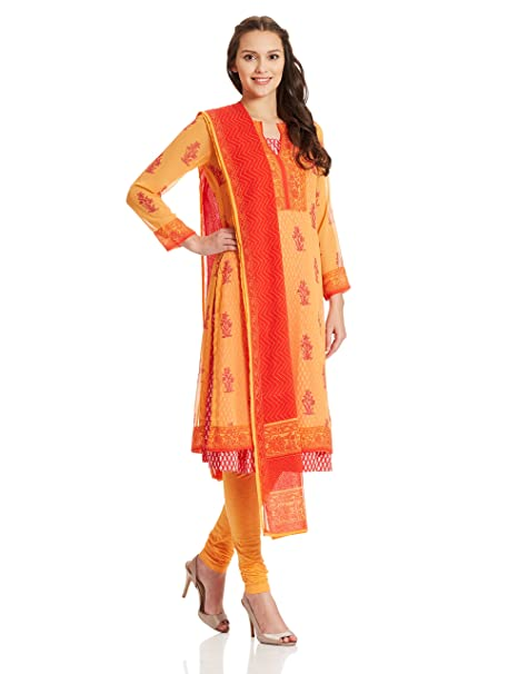 b15e0cd2c BIBA Women s Straight Salwar Suit  Amazon.in  Clothing   Accessories