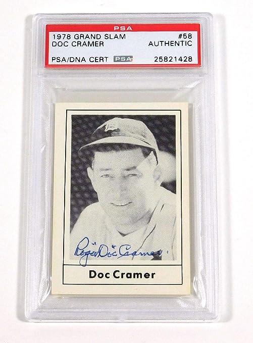 Amazoncom 1978 Grand Slam Doc Cramer Signed Card 58 Auto Slabbed